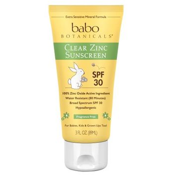 SPF 30 Clear Zinc Sunscreen Lotion, Fragrance Free - Walmart.com