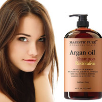 Argan Oil Shampoo With Vitamin Enriched Hair Care Restoration Daily Use, Sulfate Free