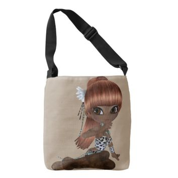 African America Lady All-Over-Print Cross Body Bag Tote Bag