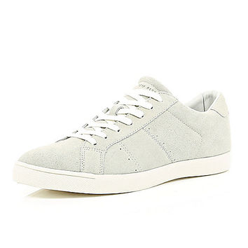 River Island MensWhite suede sneakers