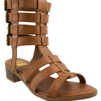 Looking for Adventure Cognac Gladiator Sandals