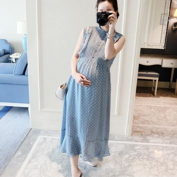 2018 Long Summer Dress Maternity Clothes Nursing Dresses Breast Feeding Clothes Pregnancy Breastfeeding Clothing