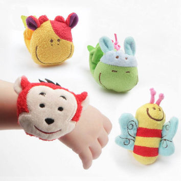 Wrist Wrap Animal Themed Rattle