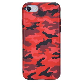 Red Camo iPhone Case