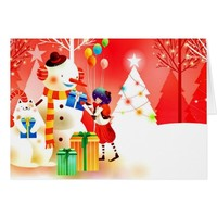 Snowman Seasons Greetings Card