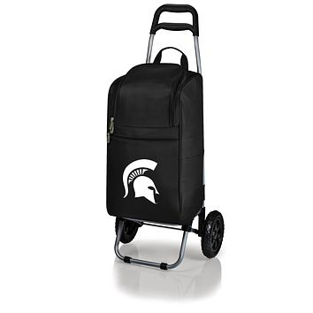 Michigan State Spartans Cart Cooler with Trolley-Black Digital Print