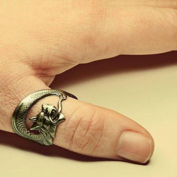 Game Of Thrones Steampunk Ring   Dragon Ring Inspired By The Acclaimed Series