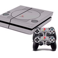 Classic Playstation Style PS4 Skin + 2 Controller Skins