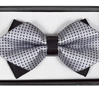 Diamond Tip Banded Bow Tie