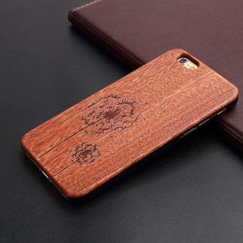 iPhone Natural Wood Case - Dandelion Puff