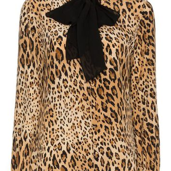 Frame Denim Leopard Print Button Down Silk Blouse - Farfetch
