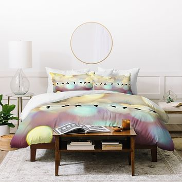 Shannon Clark Birds And Bokeh Duvet Cover