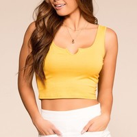 Annie Yellow Crop Top