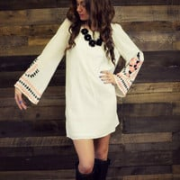London Bridges Ivory Sleeve Dress