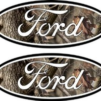 2 Camo Camaflauge 05-11 Ford Decal Emblem f250 f350 F150 Ranger Excursion 4x4 SD