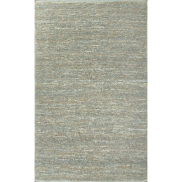 Jaipur Rugs Naturals Solid Pattern Blue Jute Area Rug CL15 (Rectangle)