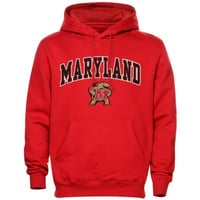 Maryland Terrapins Arch Over Logo Hoodie – Red