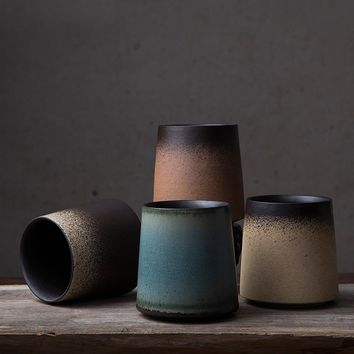 Retro Japanese Ceramic Coffee Mugs