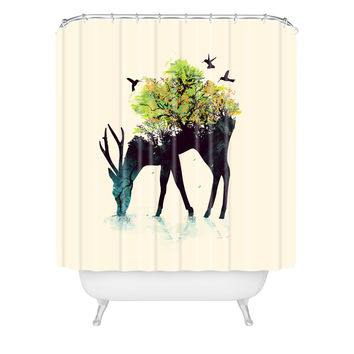 Budi Kwan Watering A Life Into Itself Shower Curtain