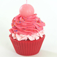 Flaming Fruit Soy/Paraffin Cupcake Candle