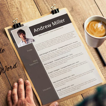 Professional Resume Template + Matching Cover Letter