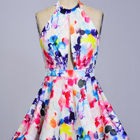 Pop of Color Skater Dress
