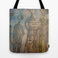 robot Tote Bag by helendeer