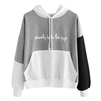 Fashion Womens Hoodies Sweatshirts Letters Long Sleeve Hoodie Sweatshirt Hooded Pullover Tops Blouse oversized hoodie 4FN
