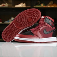 Air Jordan 1 Retro Red/Black Sneaker Shoe 40-46