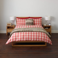 Buy John Lewis Brushed Cotton Check Duvet Cover and Pillowcase Set | John Lewis