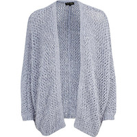 River Island Womens Blue eyelash knit open front cardigan