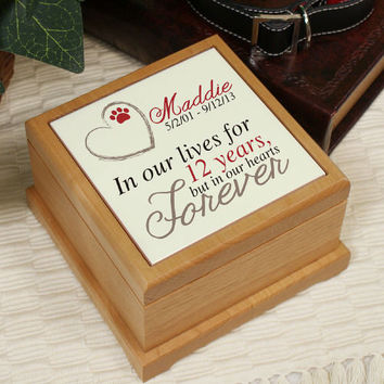 Personalized Memorial Wooden Pet Urn