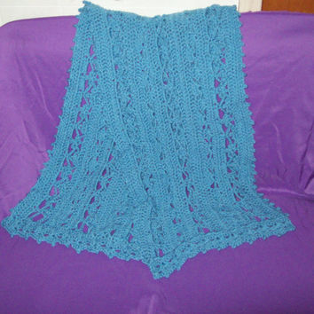 Heavenly Wrap Shawl In Bluebell Yarn Crochet Shawl Crochet Wrap