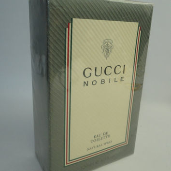 Vintage, the only one on the internet: Gucci Nobile 120ml, 4.2oz eau de toilette, natural spray, discontinued, men, fragrance, rare