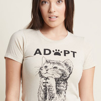 Opt to Adopt Graphic Tee