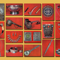 Georgian Minting - Arts and Crafts (Photo by L. Krutsko) - Set of 17 Vintage Postcards - Printed in the USSR, «Planet», Moscow, 1974