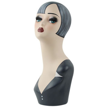 Hand Painted Mannequin Head For Wig And Hat Display With Fiberglass Material EMS Shipping