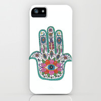 Hamsa Hand iPhone & iPod Case by Taylor Halle