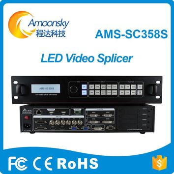 5.3 million piexl customized resolution sc358S definition dual core video processor 4k led billboard splicing processor