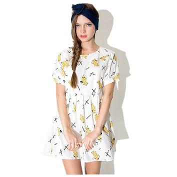 Lovely Banana Print Dress