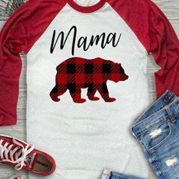 Mama Bear Baseball, Women's T-Shirt