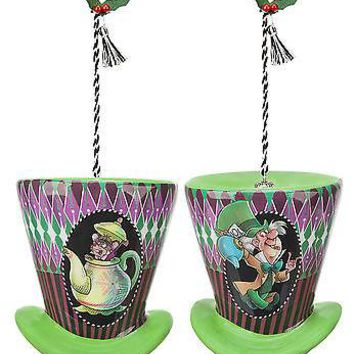 """Licensed cool NEW Alice in Wonderland 2013 THE MAD HATTER AUTHENTIC """"DISNEY PARKS"""" ORNAMENT"""