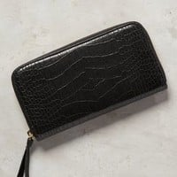 Clare V Embossed Wallet in Black Size: One Size Clutches
