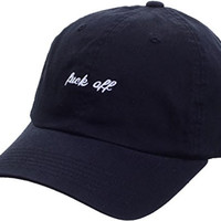 sujii FUCK OFF Baseball Cap Trucker Hat Outdoor Cap/Black