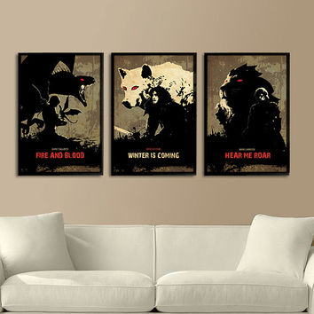 Games of Thrones Trilogy Poster Set 11X17