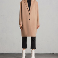 ALLSAINTS US: Womens Anya Coat (camel_brown)