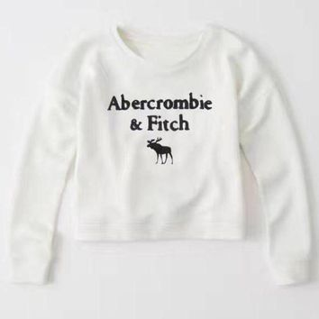 DCCKI2G Abercrombie & Fitch Fashion Print Top Sweater Pullover