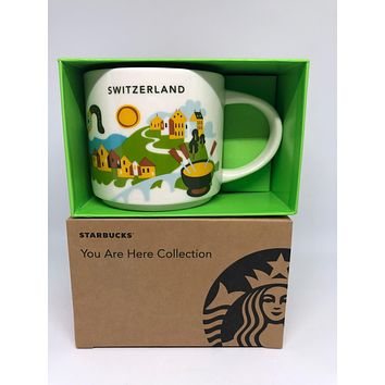 Starbucks You Are Here Collection Switzerland Ceramic Coffee Mug New with Box