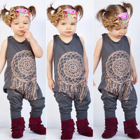 Kids Clothes Cute Toddler Baby Girls Boys Totem Print Romper Jumpsuit Children Outfits