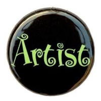 Artist Button Pin by theangryrobot on Etsy